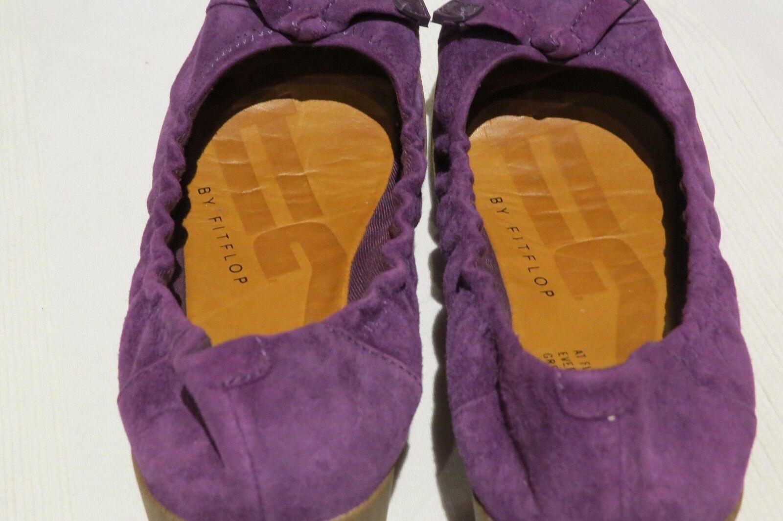 FF2TM BY FitFlop™ F-POP PURPLE SUEDE BALLERINA PUMPS Schuhe UK 4.5 EU37.5