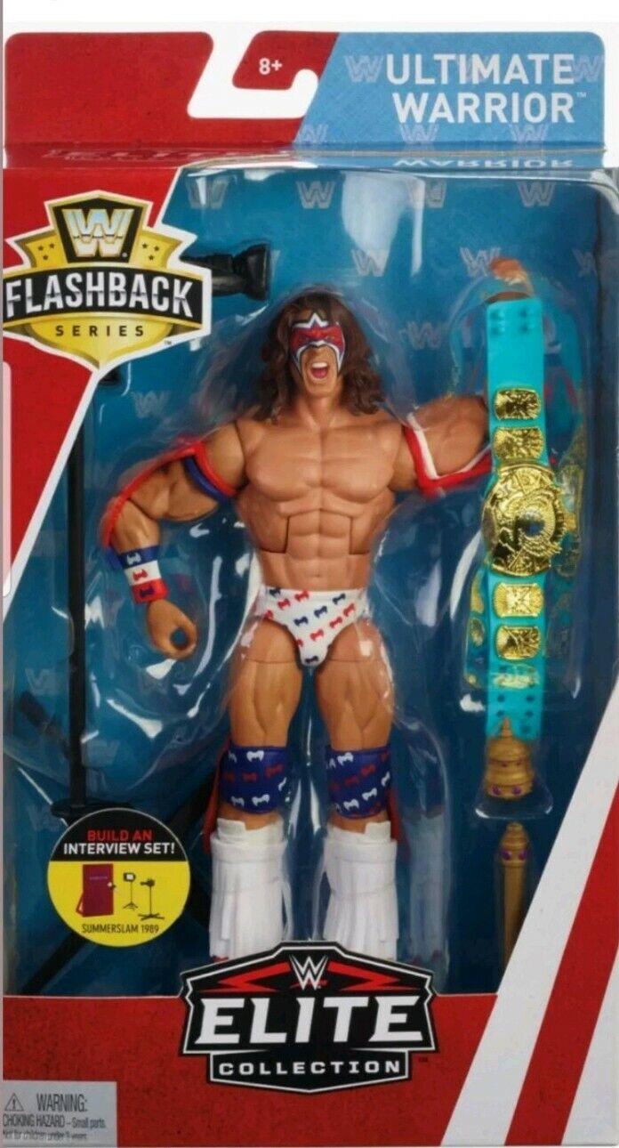 WWE MATTEL Elite Series FLASHBACK Ultimate Warrior Nuovo di Zecca