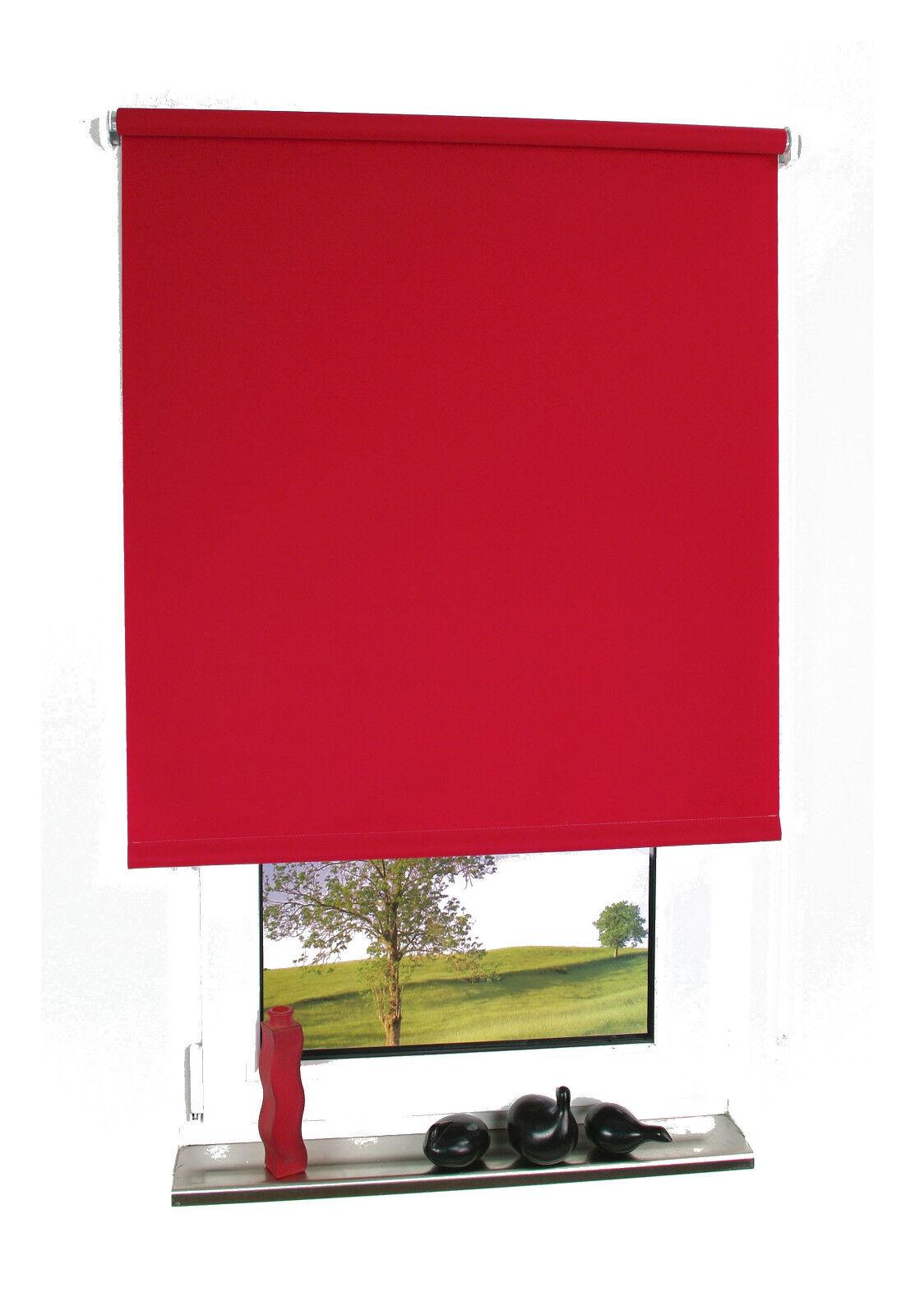 Kettenzugrollo Rot Seitenzugrollo Tür Fensterrollo Sichtschutz Deko