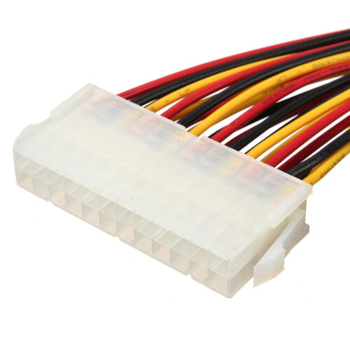 ATX 24 Pin Male to Female Extension Cable Internal PC PSU TW Power Lead OJ