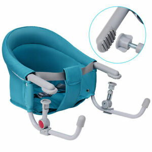 Portable-Folding-Baby-Hook-On-Clip-On-High-Chair-Booster-Fast-Table-Seat-Green