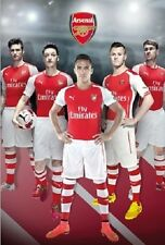 "Arsenal FC soccer poster 24x36"" Gunners  team collage  Sanchez Giroud"