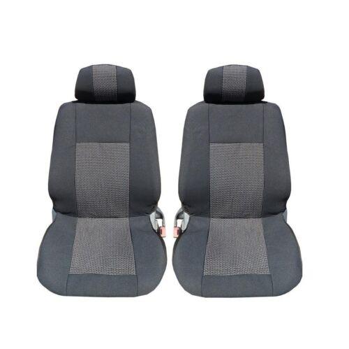 1+1 Luxus Sitzbezüge Schonbezüge Auto Schwarz für Dacia Fiat Ford Honda Hyundai