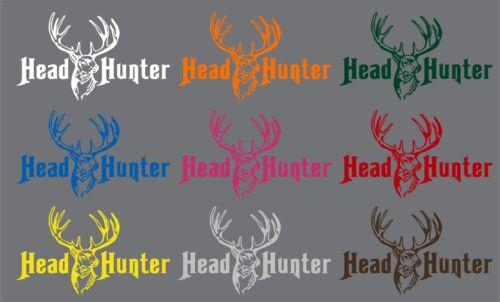 Whitetail Deer Head Hunter Hunting Gun Bow Truck Window Vinyl Decal Sticker