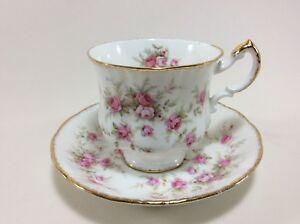 Paragon Victoriana Rose Untertasse für Kaffee D 14 H 2 cm Porzellan