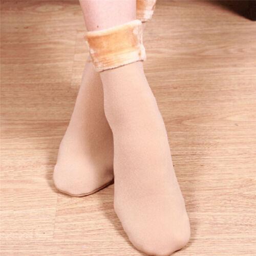 Women Socks Winter Warm Thicken Socks Wool Home Snow Boots Cotton Cozy Socks VQ