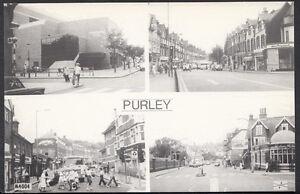 Surrey-Postcard-Views-of-Purley-Streets-amp-Swimming-Pool-Pamlin-Print-33