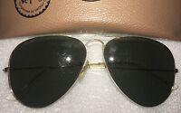 Vintage 1980's Ray Ban B&L Aviator Sunglasses 58 14 (Original) FREE FAST SHIP