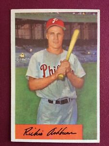 Details About 1954 Bowman Richie Ashburn 15 Baseball Card Philadelphia Phillies Sharp