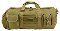Tactical Duffle Bag Field Duty Gear Bag Survival Camp Hunt Travel Gym Bag Tan