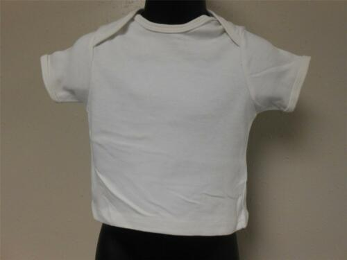 NEW Reebok Blank White T-Shirt INFANT 6-9M 6-9 MONTHS 23UZ