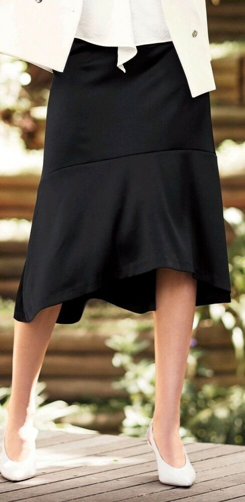 Bnwt Next Noir Satin Formelle Soirée Jupe Taille 10 êTre Reconnu à La Fois Chez Soi Et à L'éTranger Pour Sa Finition Exceptionnelle, Son Tricot Habile Et Son Design éLéGant