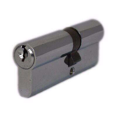 Avocet UPVC Door Lock Euro profils Cylinder Baril Chrome Thumbturn 80 mm