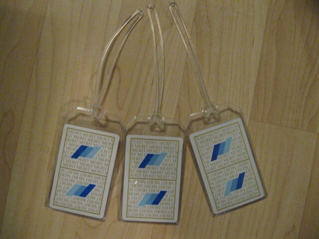 Merit Cigarettes Luggage Tags - Vintage Playing Card Smoker Smoking Name Tag (3)