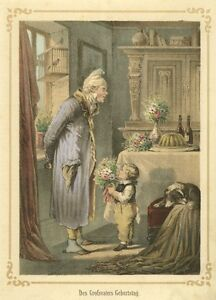 Grossvater-hat-Geburtstag-Original-Lithographie-von-1862