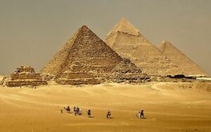 Pyramids-Of-Giza-Canvas-Wall-Art-Picture-Print-Framed-20x30-INCHES