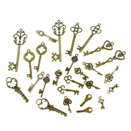 Vintage Schlüssel Anhänger Form Maß Zufällig DIY Schmuck Pendant 26x Handarbeit