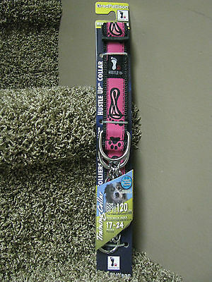 Hustle Up Training Dog Collar for dogs up to 120#-Pink-brand new!!