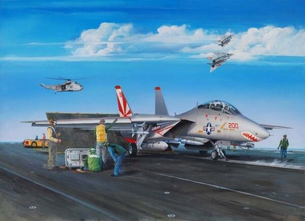 Grumman F-14A Tomcat Fighter 1:32 Plastic Model Kit TRUMPETER