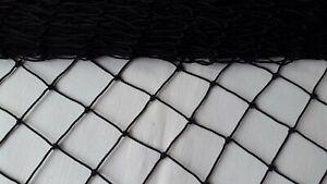 Black Garden Netting 60x60mm Mesh Anti Bird Plant Pond Net Protection 2.60m Wide