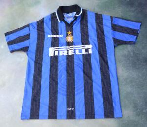 93a7c65a4 Vintage Umbro 1996 Inter Milan Ronaldo  10 Soccer Jersey Size XL.