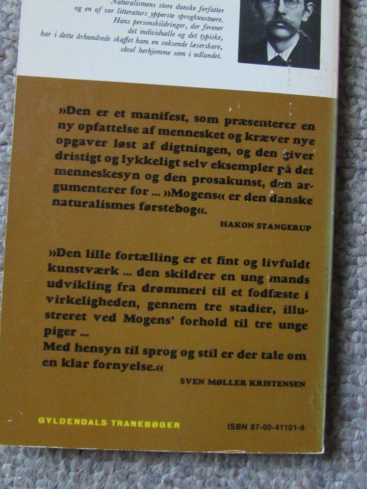 Mogens og andre noveller, J.P. Jacobsen, genre: noveller