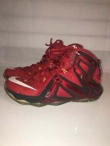 new concept a6c59 cc490 Image is loading Nike-Lebron-XII-12-Elite-Team-University-Red-