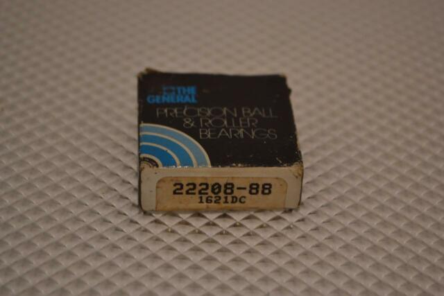 22208-88 New In Box NOS General Bearing Precision Ball /& Roller Bearings 1621DC
