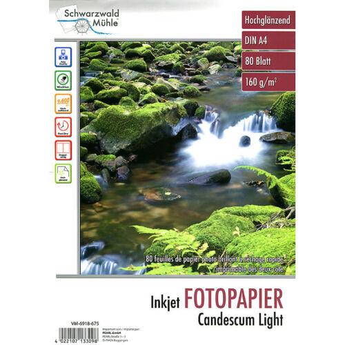 "A4 Fotopapier 80 Bl Fotopapier /""Candescum Light/"" 2-seitig glossy"