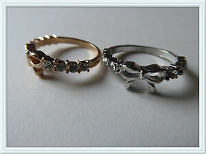 Pretty-Bow-Ring-Costume-Jewellery-Fashion-Knuckle-Ring-Gold-Or-Silver-Sweet-Cute