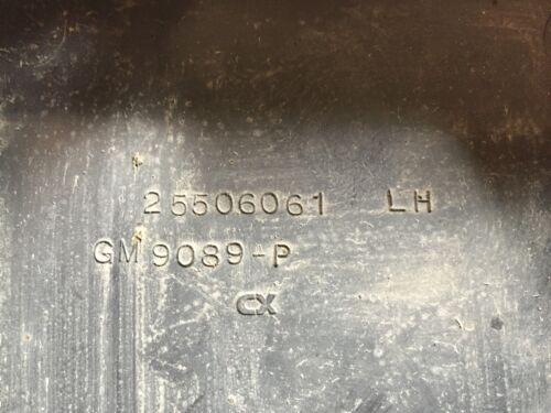 1984-1987 Grand National Wheel House Inner Fender Splash Shield Extension LH GM