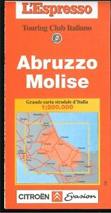 Cartina Stradale Abruzzo Molise.Abruzzo Molise Carta Stradale 1 200 000 Touring Club Italiano Ebay