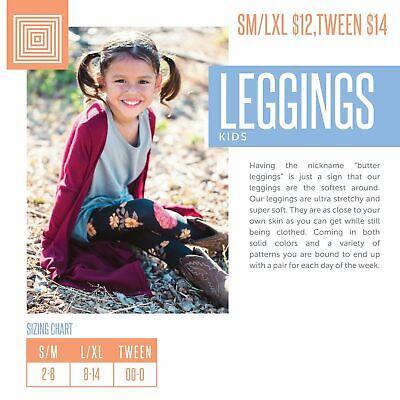 BoxGG LuLaRoe Kids Leggings L//XL New Navy W// Large Lined Shapes