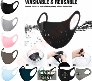 Face Mask Washable Uk Reusable Breathable High Quality Masks Shield Cover Ebay