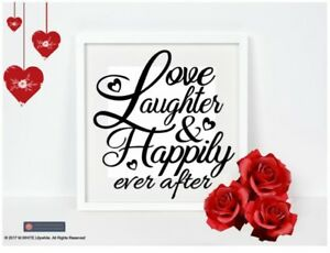 Love-Laughter-amp-Happily-Ever-After-Sticker-Vinyl-Sticker-for-IKEA-BOX-FRAME