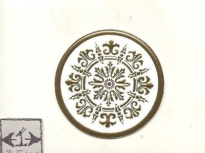 Faux Plaster Gilded Ceiling Medallion 34916 World & Model Faux 1/12 scale