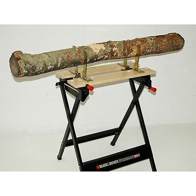 SAW HORSE WORKMATE BENCH JAWS CLAMP FITS BLACK & DECKER CUTTING PIPE WOOD OR LOG