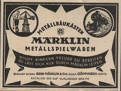 GÖppingen Gebr Gmbh Metall-spielwaren-baukästen Gut FüR Antipyretika Und Hals-Schnuller Werbung 1924 Märklin & Cie