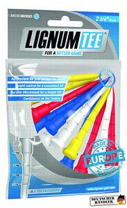 Lignum-Tees-1-Beutel-a-12-Stueck-72-mm-4-Farben-bunt-fuer-Driver-Hoelzer