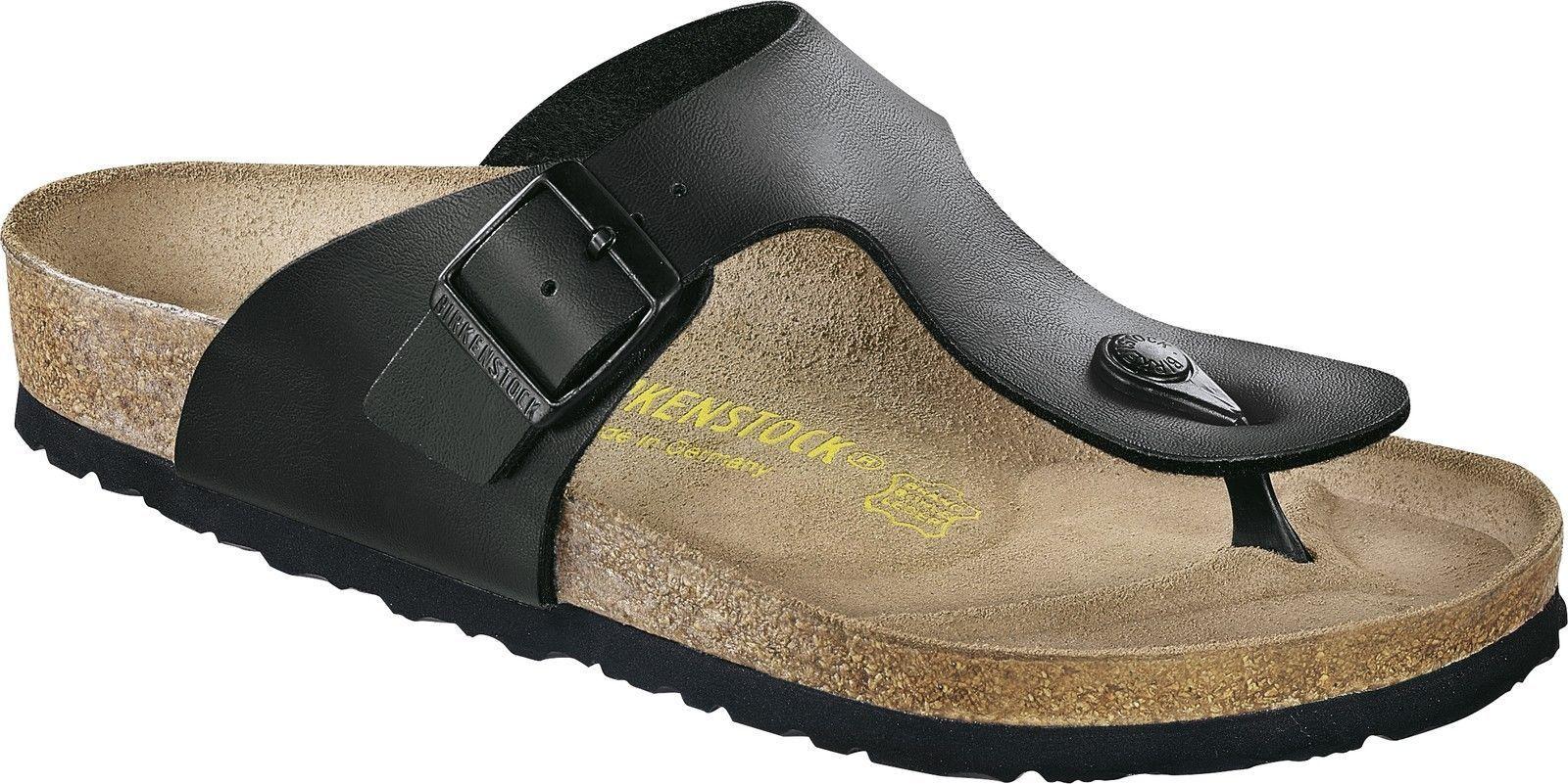 Tiempo limitado especial Birkenstock Ramsés dedos steg sandalia negro tamaño 38-48 plantilla normal