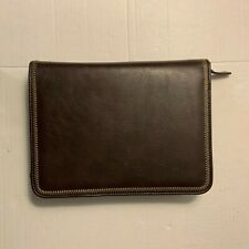 Franklin Covey Brown Leather Cl12215 Planner Binder Quest