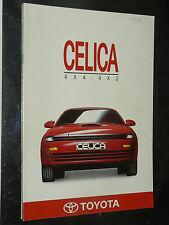 Prospectus Auto TOYOTA  CELICA 4x4 1990  catalogue brochure prospekt car