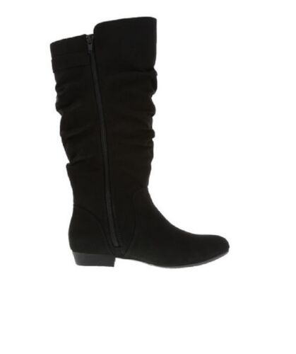 Woman Raven Tall Winter Boots Black Suede Size 7 1//2