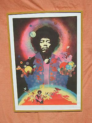 Jimi Hendrix Steve Hardstaff limited edition signed by designer poster print