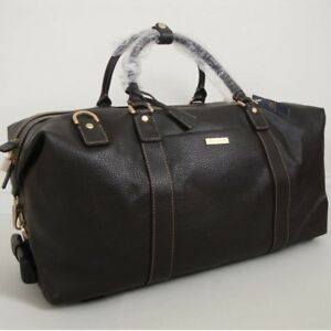 Image Is Loading Brooks Brothers Dark Brown Leather Wheeled Duffle Duffel