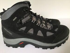 Salomon Authentic LTR GTX 404643 Black Grey Hiking Shoes Boots Men's