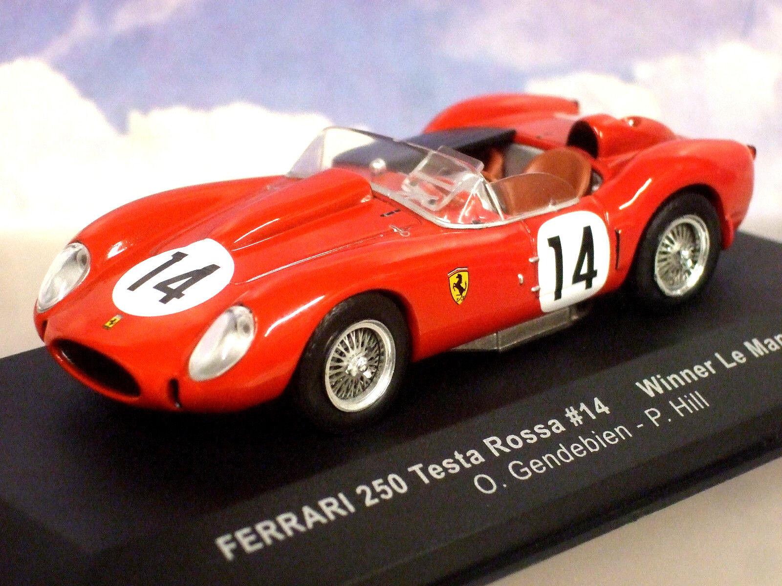 Ixo 1 1 1 43 Ferrari 250 Testa Rossa  14 Ganador Le Mans 1958 Gendebien Hill Lm1958 365021