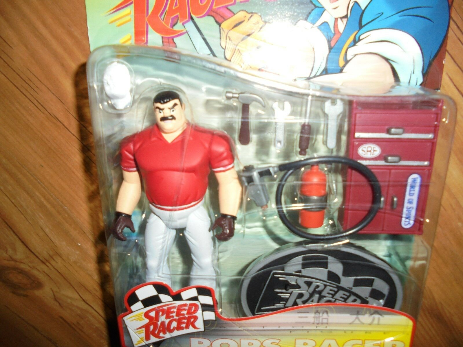 Speed Racer Series 1  POPS RACER  Action Figure ReSaurus 1999
