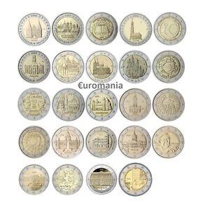 Allemagne 2 Euro - Toutes Commémoratives Monnaies 2007 à 2020 Disponibles