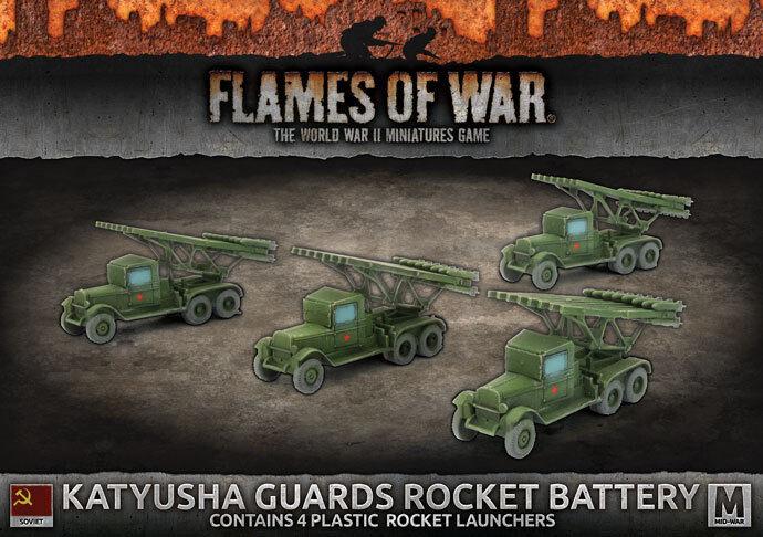 Flames of of of War Nuevo Y En Caja soviético cohete Katyusha guardias Batería SBX44 e38da6
